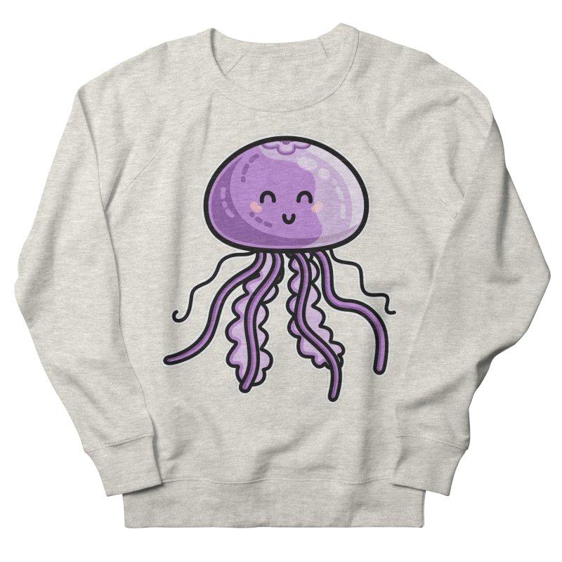Kawaii Cute Jellyfish Men's French Terry Sweatshirt by Flaming Imp's Artist Shop