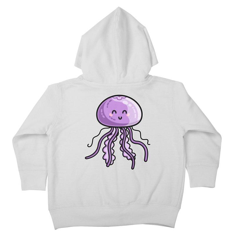 Kawaii Cute Jellyfish Kids Toddler Zip-Up Hoody by Flaming Imp's Artist Shop