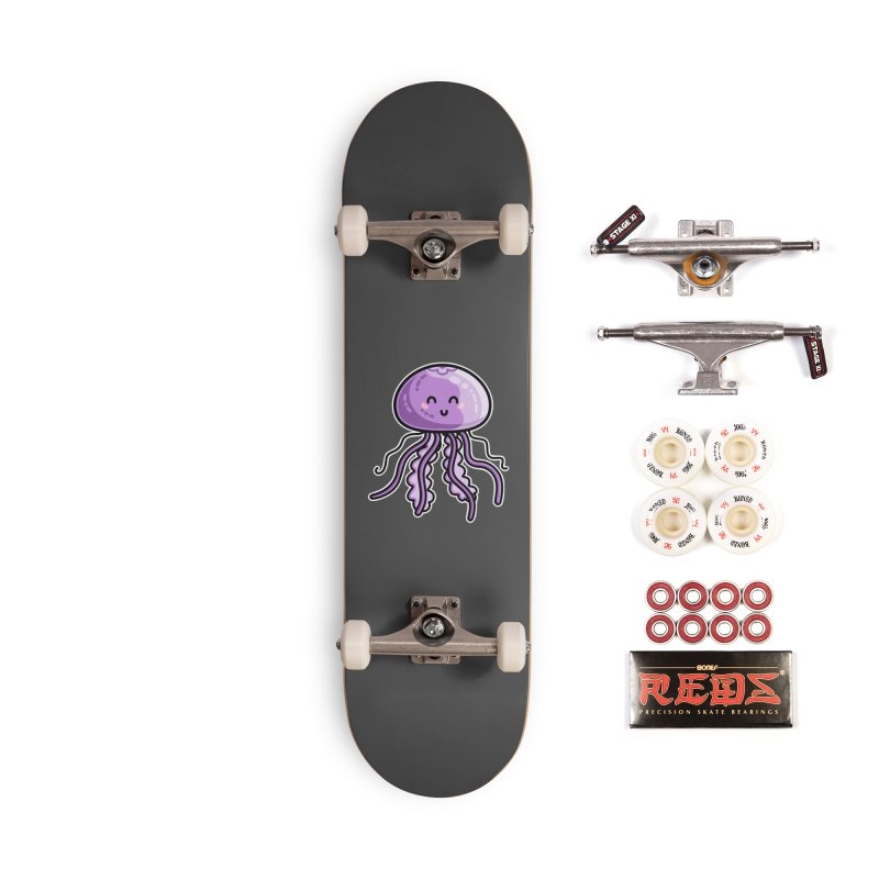 Kawaii Cute Jellyfish Accessories Complete - Pro Skateboard by Flaming Imp's Artist Shop