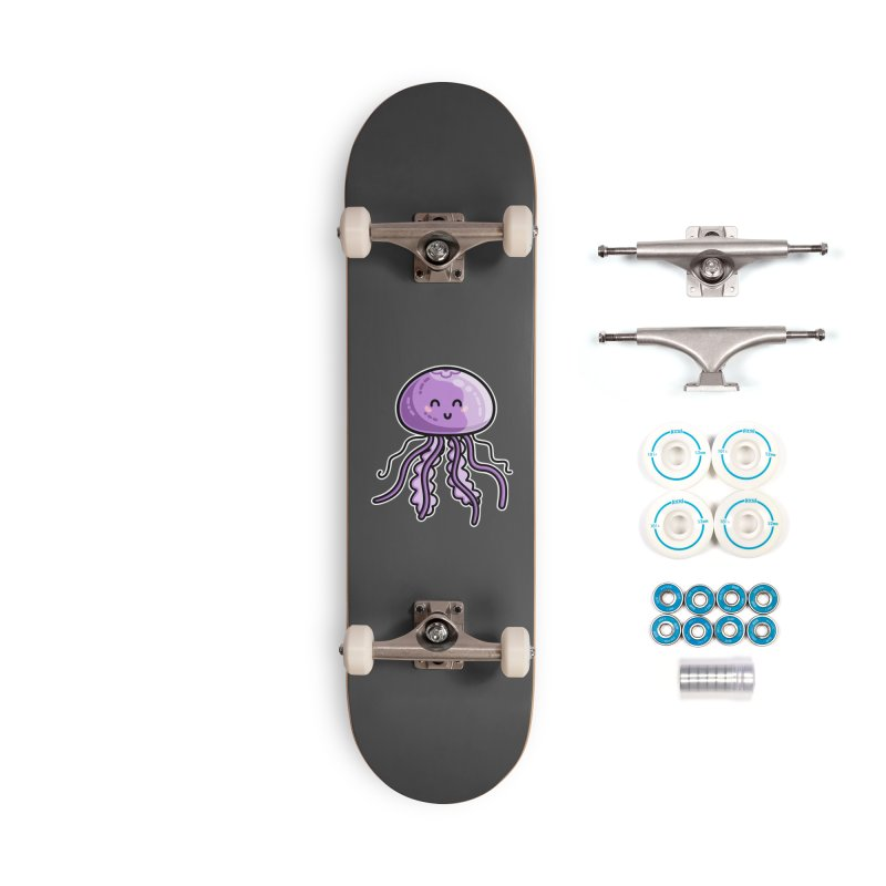 Kawaii Cute Jellyfish Accessories Complete - Basic Skateboard by Flaming Imp's Artist Shop