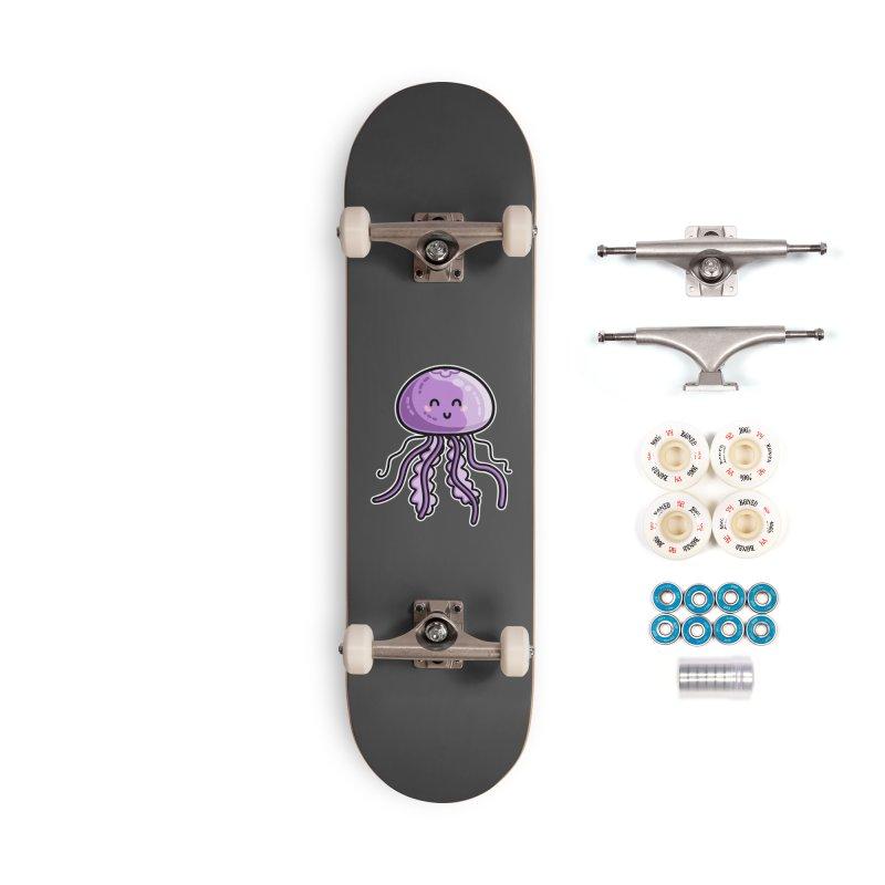 Kawaii Cute Jellyfish Accessories Complete - Premium Skateboard by Flaming Imp's Artist Shop