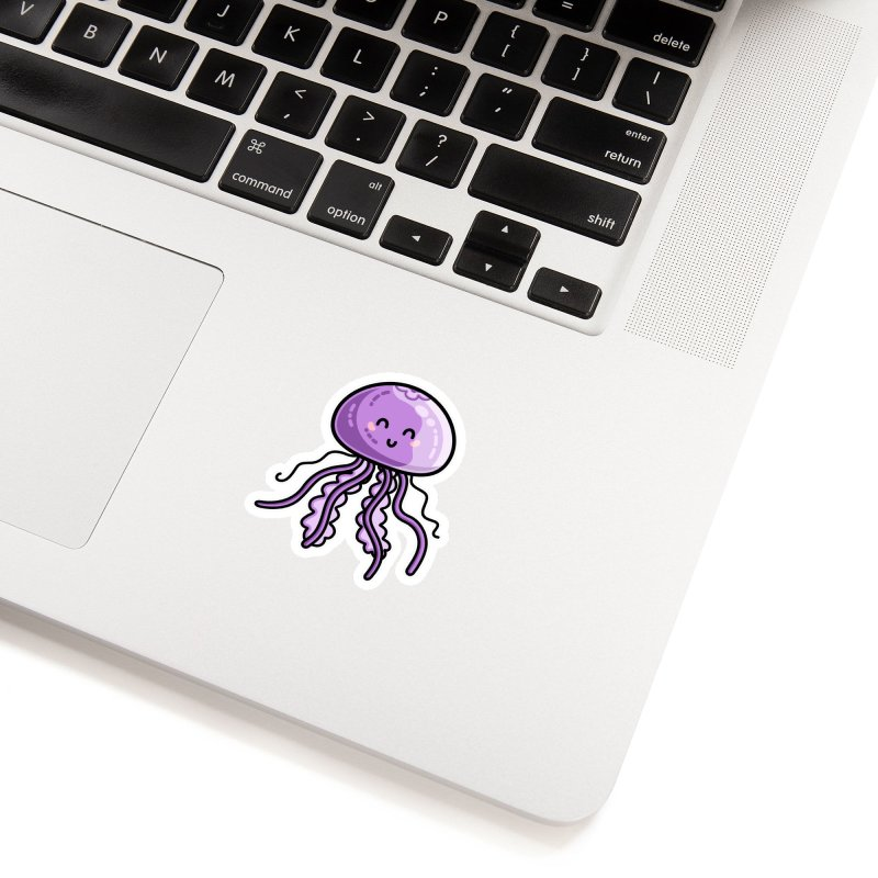 Kawaii Cute Jellyfish Accessories Sticker by Flaming Imp's Artist Shop