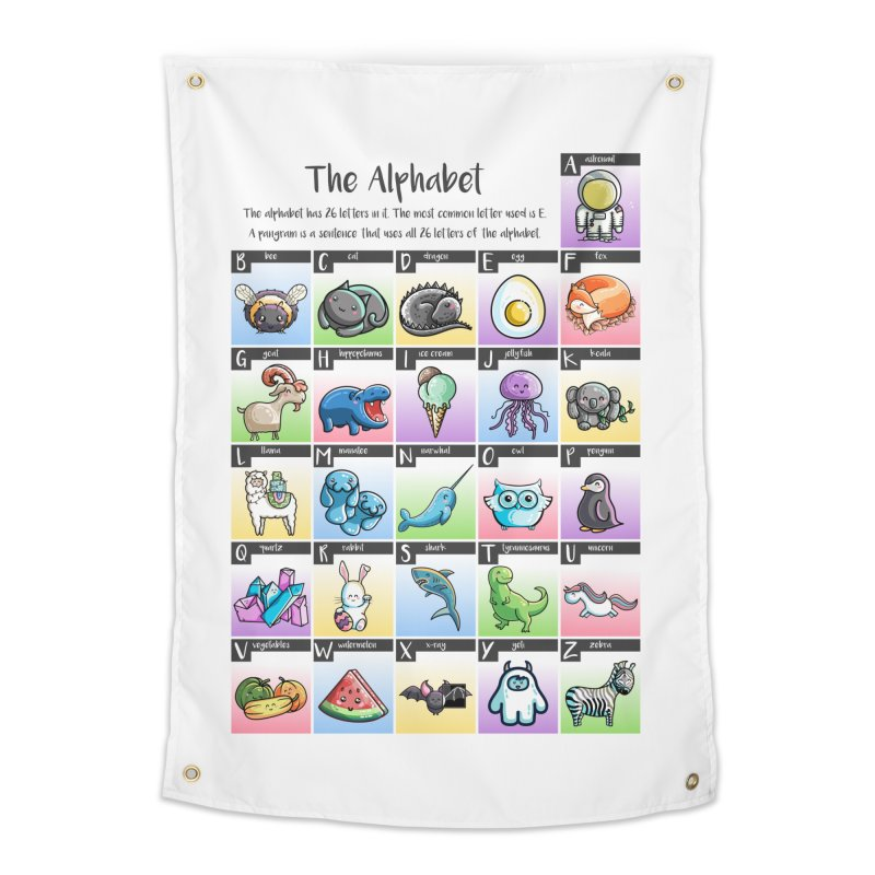 The Alphabet in Kawaii Cute Style Home Tapestry by Flaming Imp's Artist Shop