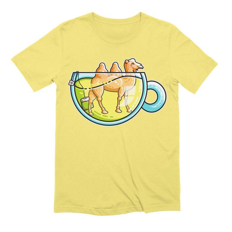 Camel-Mile-Tea Kawaii Cute Chamomile Tea Pun Men's Extra Soft T-Shirt by Flaming Imp's Artist Shop