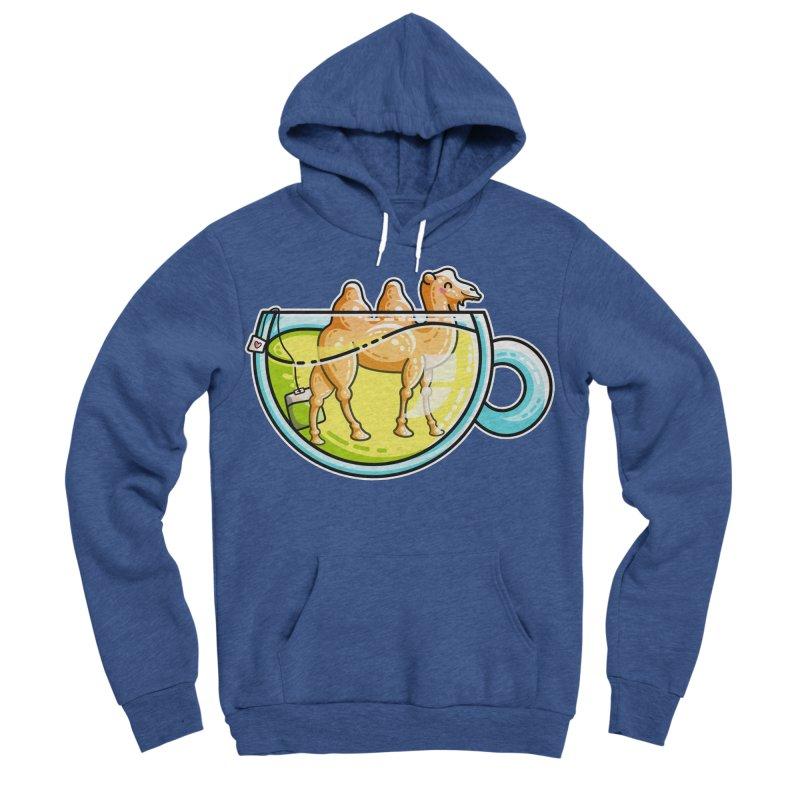 Camel-Mile-Tea Kawaii Cute Chamomile Tea Pun Men's Sponge Fleece Pullover Hoody by Flaming Imp's Artist Shop