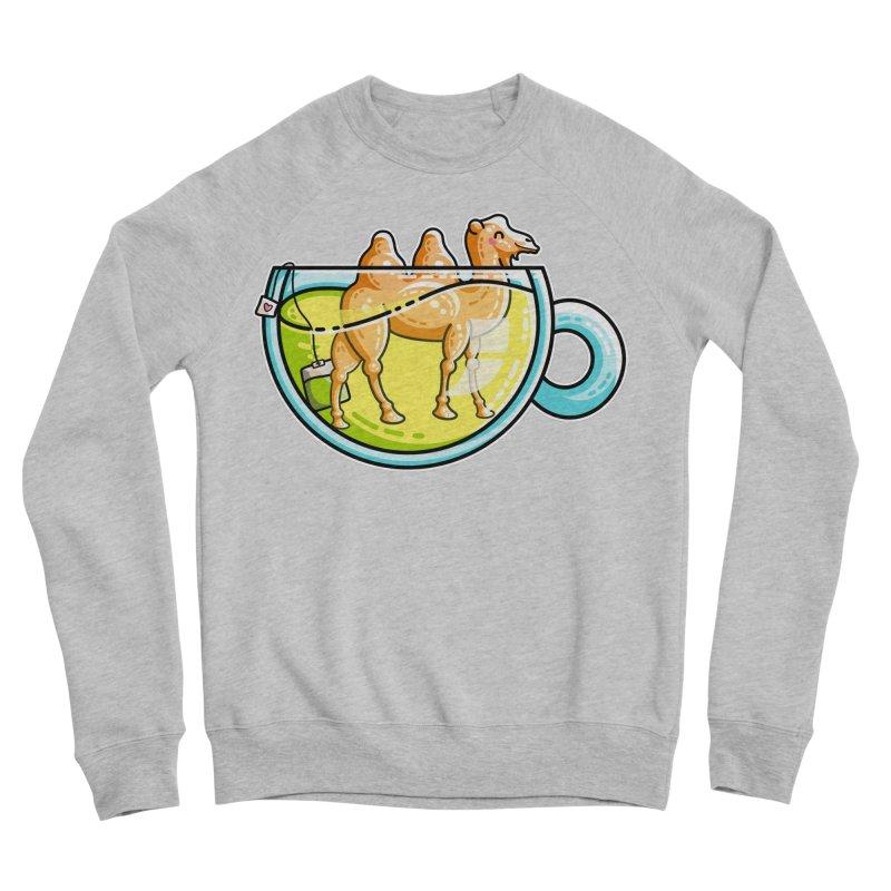 Camel-Mile-Tea Kawaii Cute Chamomile Tea Pun Men's Sponge Fleece Sweatshirt by Flaming Imp's Artist Shop