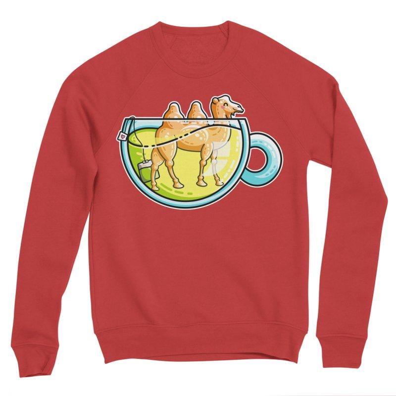 Camel-Mile-Tea Kawaii Cute Chamomile Tea Pun Women's Sponge Fleece Sweatshirt by Flaming Imp's Artist Shop
