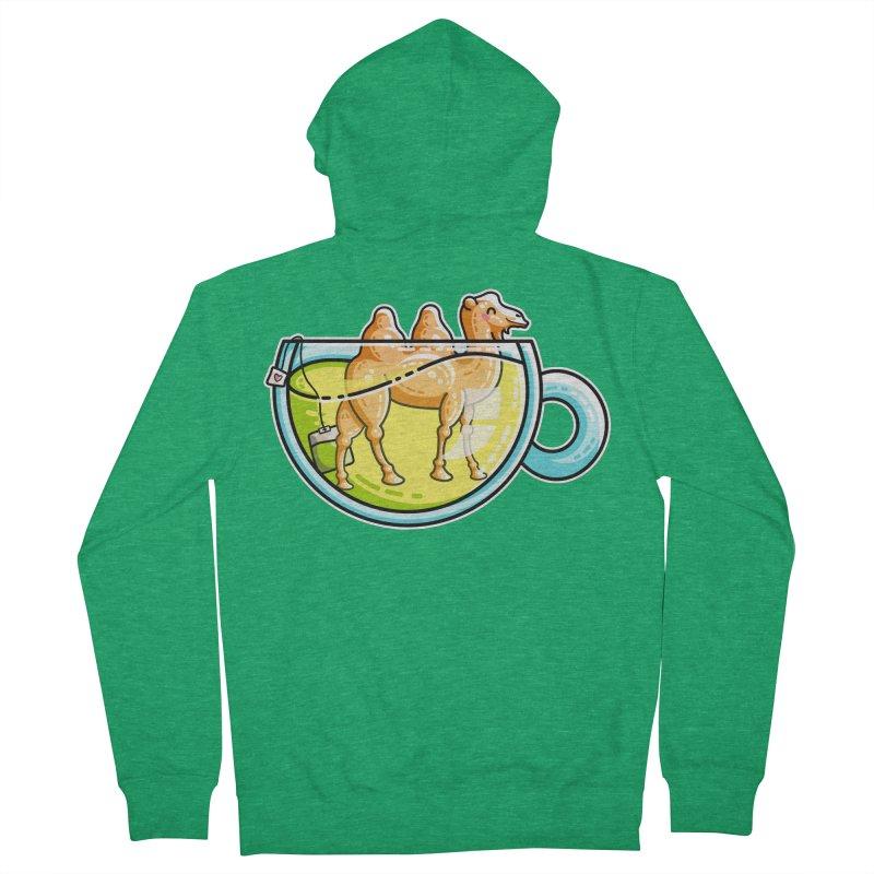 Camel-Mile-Tea Kawaii Cute Chamomile Tea Pun Men's French Terry Zip-Up Hoody by Flaming Imp's Artist Shop