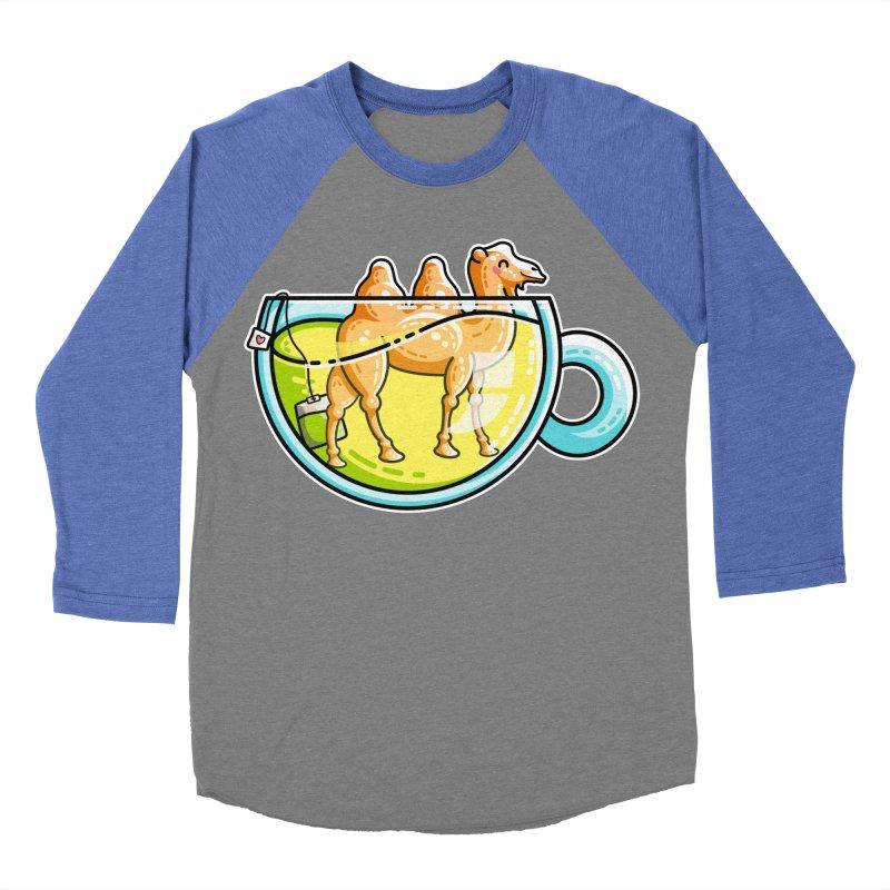 Camel-Mile-Tea Kawaii Cute Chamomile Tea Pun Women's Baseball Triblend Longsleeve T-Shirt by Flaming Imp's Artist Shop