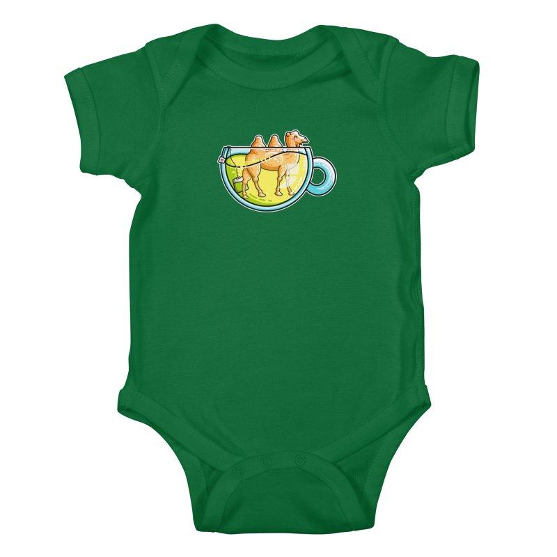 Camel-Mile-Tea Kawaii Cute Chamomile Tea Pun Kids Baby Bodysuit by Flaming Imp's Artist Shop
