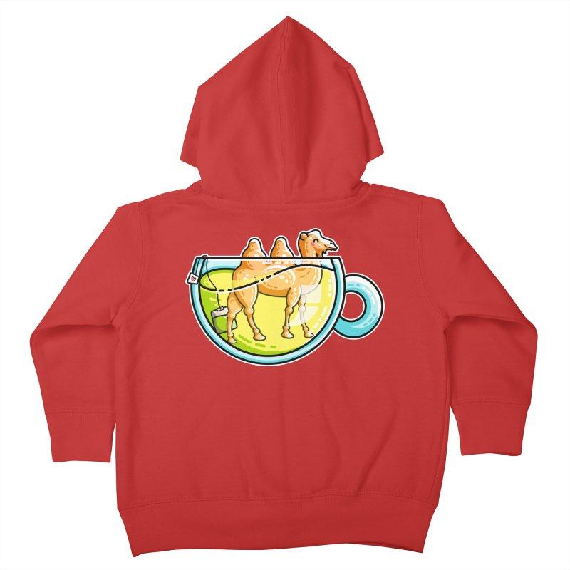 Camel-Mile-Tea Kawaii Cute Chamomile Tea Pun Kids Toddler Zip-Up Hoody by Flaming Imp's Artist Shop