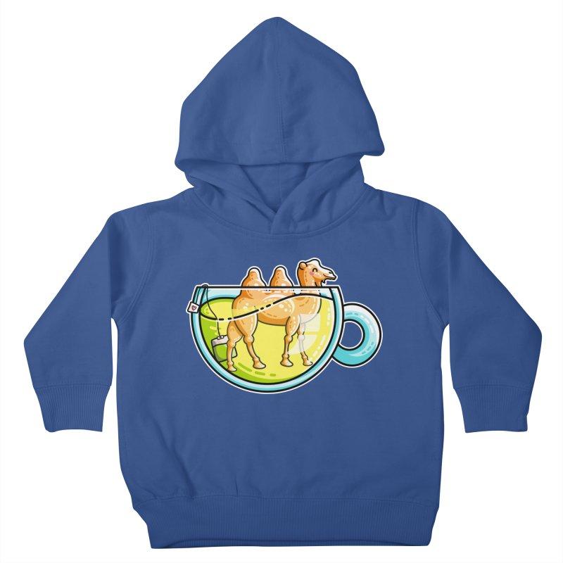 Camel-Mile-Tea Kawaii Cute Chamomile Tea Pun Kids Toddler Pullover Hoody by Flaming Imp's Artist Shop