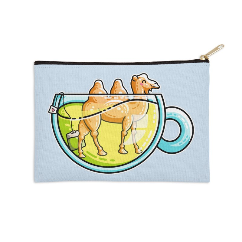 Camel-Mile-Tea Kawaii Cute Chamomile Tea Pun Accessories Zip Pouch by Flaming Imp's Artist Shop