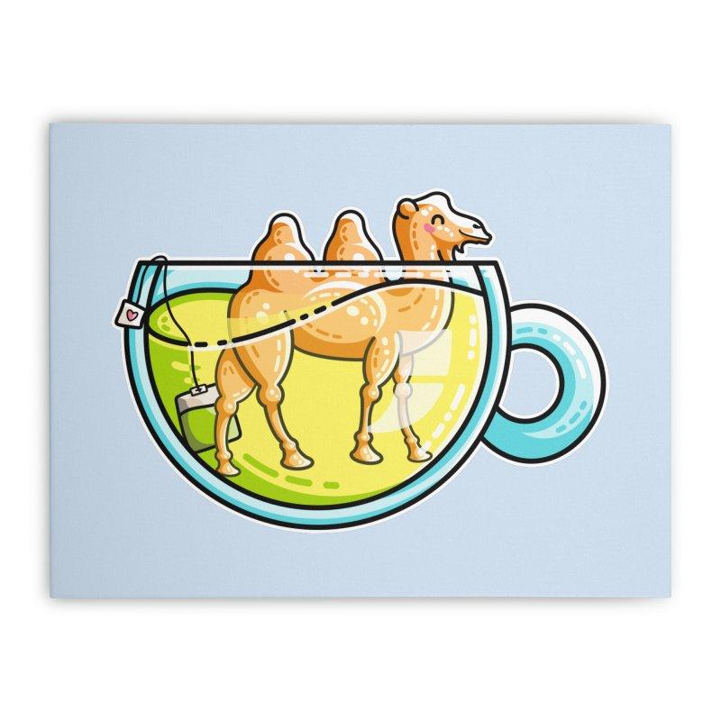 Camel-Mile-Tea Kawaii Cute Chamomile Tea Pun Home Stretched Canvas by Flaming Imp's Artist Shop