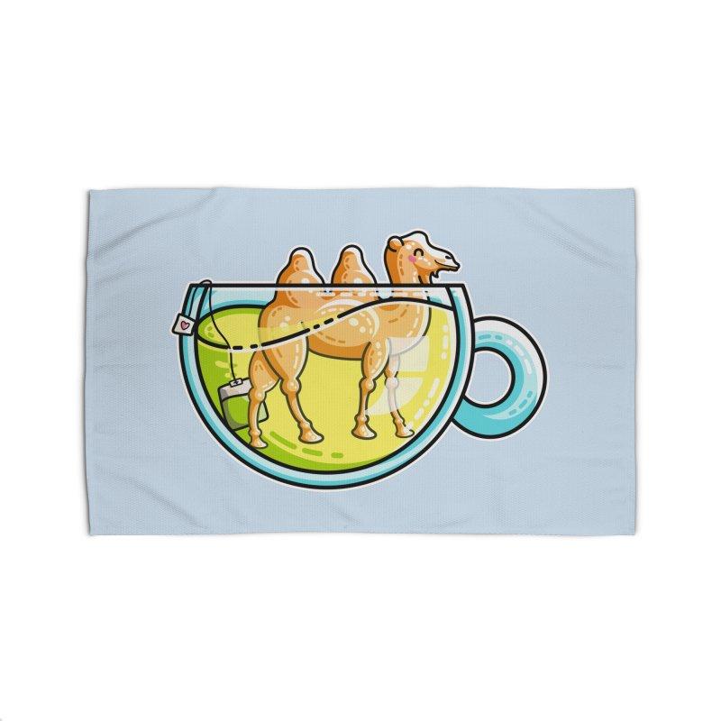 Camel-Mile-Tea Kawaii Cute Chamomile Tea Pun Home Rug by Flaming Imp's Artist Shop