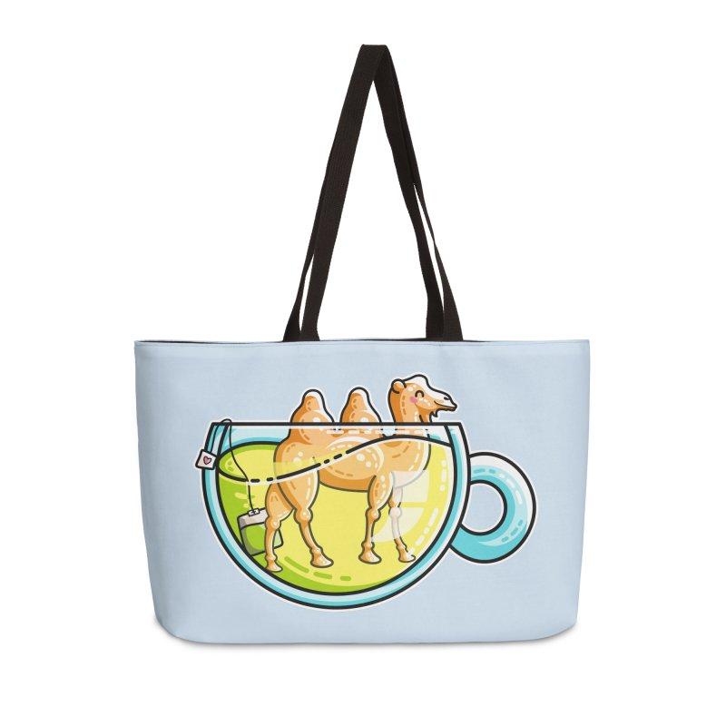 Camel-Mile-Tea Kawaii Cute Chamomile Tea Pun Accessories Weekender Bag Bag by Flaming Imp's Artist Shop