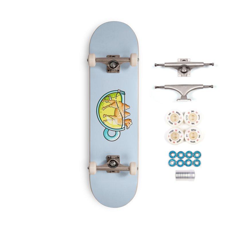 Camel-Mile-Tea Kawaii Cute Chamomile Tea Pun Accessories Complete - Premium Skateboard by Flaming Imp's Artist Shop