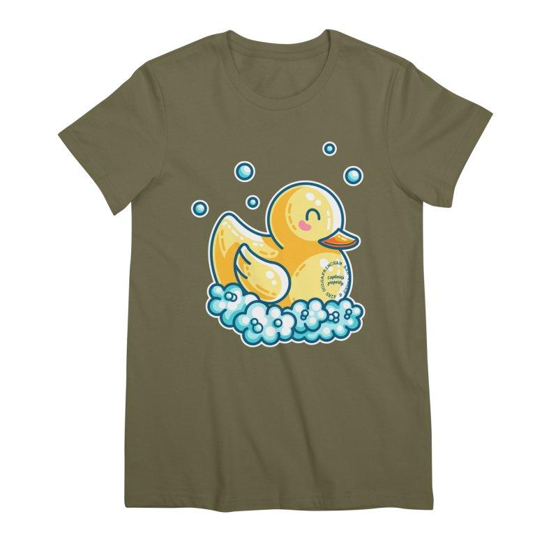 Ship B Captain's Rubber Duck Women's Premium T-Shirt by Flaming Imp's Artist Shop