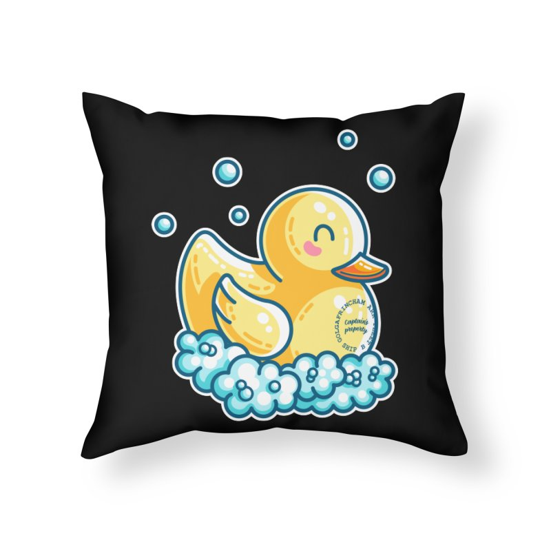Ship B Captain's Rubber Duck Home Throw Pillow by Flaming Imp's Artist Shop