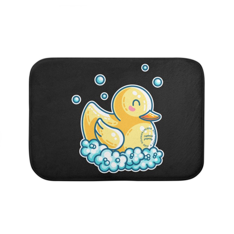 Ship B Captain's Rubber Duck Home Bath Mat by Flaming Imp's Artist Shop