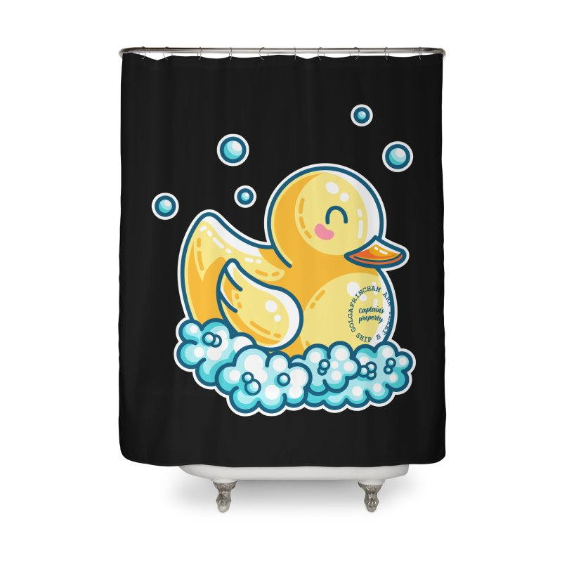 Ship B Captain's Rubber Duck Home Shower Curtain by Flaming Imp's Artist Shop