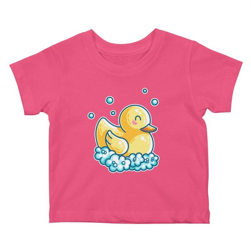 Kawaii Cute Bath Rubber Duck Kids Baby T-Shirt by Flaming Imp's Artist Shop