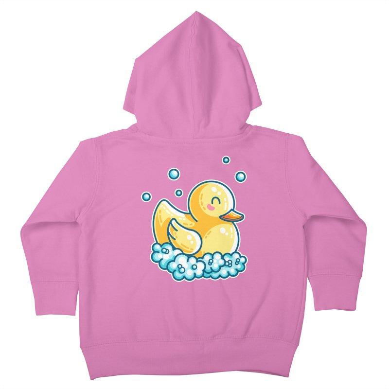 Kawaii Cute Bath Rubber Duck Kids Toddler Zip-Up Hoody by Flaming Imp's Artist Shop