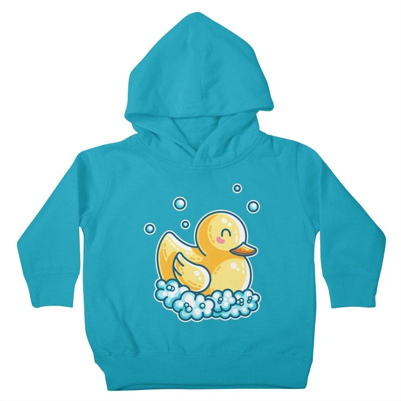 Kawaii Cute Bath Rubber Duck Kids Toddler Pullover Hoody by Flaming Imp's Artist Shop
