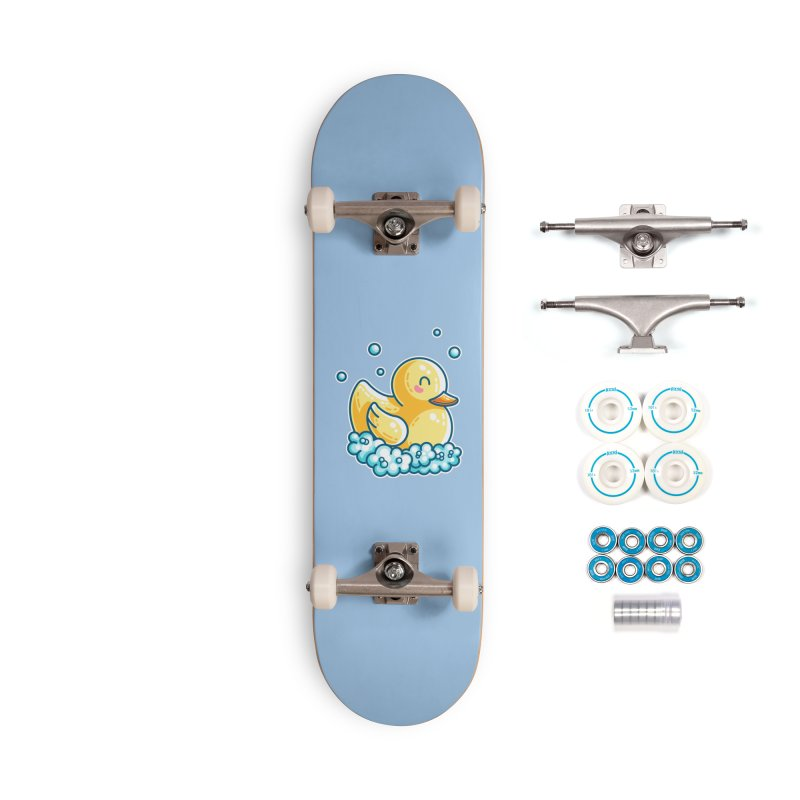 Kawaii Cute Bath Rubber Duck Accessories Complete - Basic Skateboard by Flaming Imp's Artist Shop