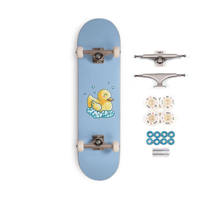 Kawaii Cute Bath Rubber Duck Accessories Complete - Premium Skateboard by Flaming Imp's Artist Shop