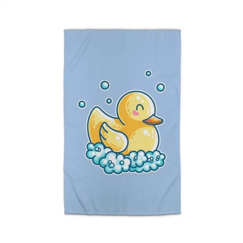 Kawaii Cute Bath Rubber Duck Home Rug by Flaming Imp's Artist Shop