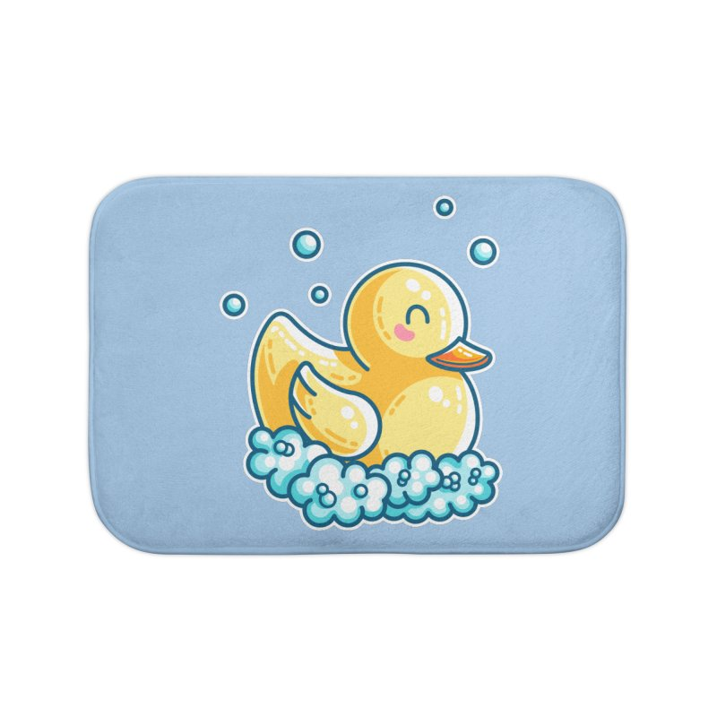 Kawaii Cute Bath Rubber Duck Home Bath Mat by Flaming Imp's Artist Shop