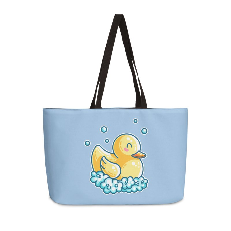 Kawaii Cute Bath Rubber Duck Accessories Weekender Bag Bag by Flaming Imp's Artist Shop