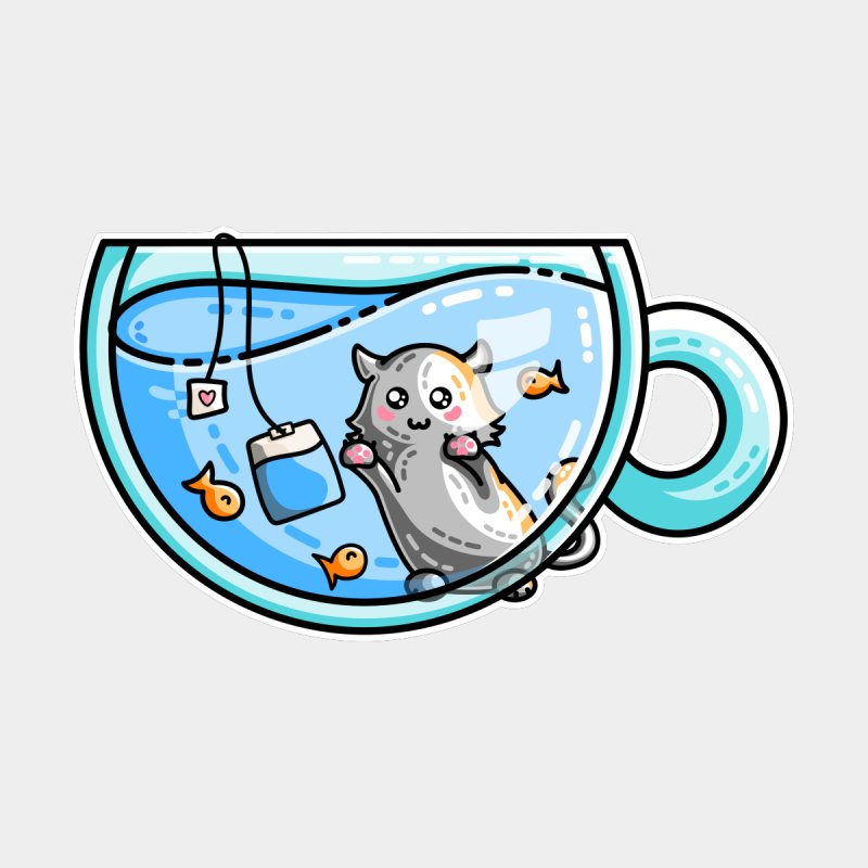 Kit-Tea Kawaii Cute Kitty Pun by Flaming Imp's Artist Shop