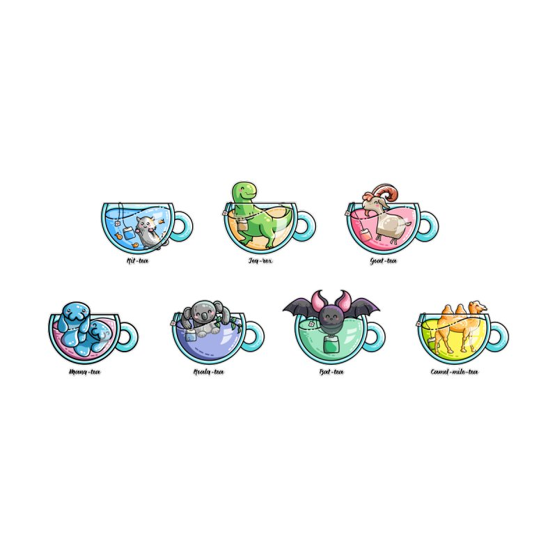 Kawaii Cute Tea Puns Collection by Flaming Imp's Artist Shop