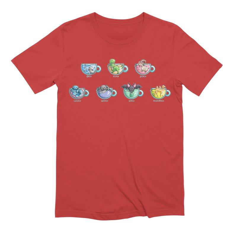 Kawaii Cute Tea Puns Collection Men's Extra Soft T-Shirt by Flaming Imp's Artist Shop