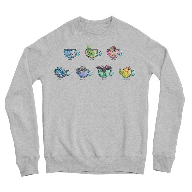 Kawaii Cute Tea Puns Collection Women's Sponge Fleece Sweatshirt by Flaming Imp's Artist Shop