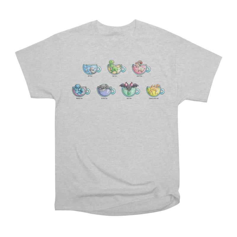 Kawaii Cute Tea Puns Collection Men's Heavyweight T-Shirt by Flaming Imp's Artist Shop