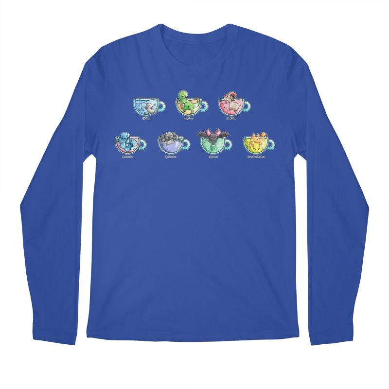 Kawaii Cute Tea Puns Collection Men's Regular Longsleeve T-Shirt by Flaming Imp's Artist Shop