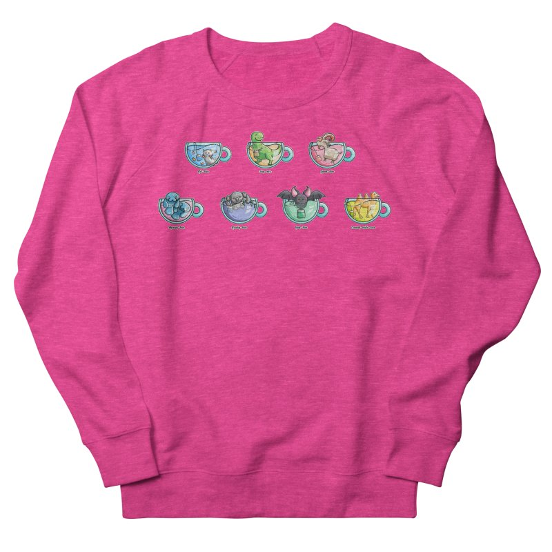 Kawaii Cute Tea Puns Collection Men's French Terry Sweatshirt by Flaming Imp's Artist Shop