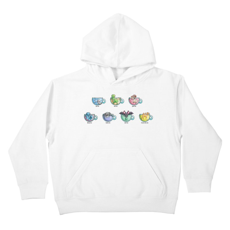 Kawaii Cute Tea Puns Collection Kids Pullover Hoody by Flaming Imp's Artist Shop