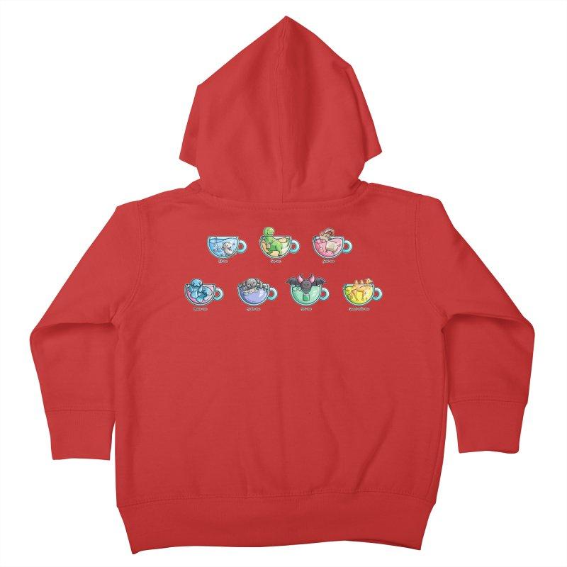 Kawaii Cute Tea Puns Collection Kids Toddler Zip-Up Hoody by Flaming Imp's Artist Shop