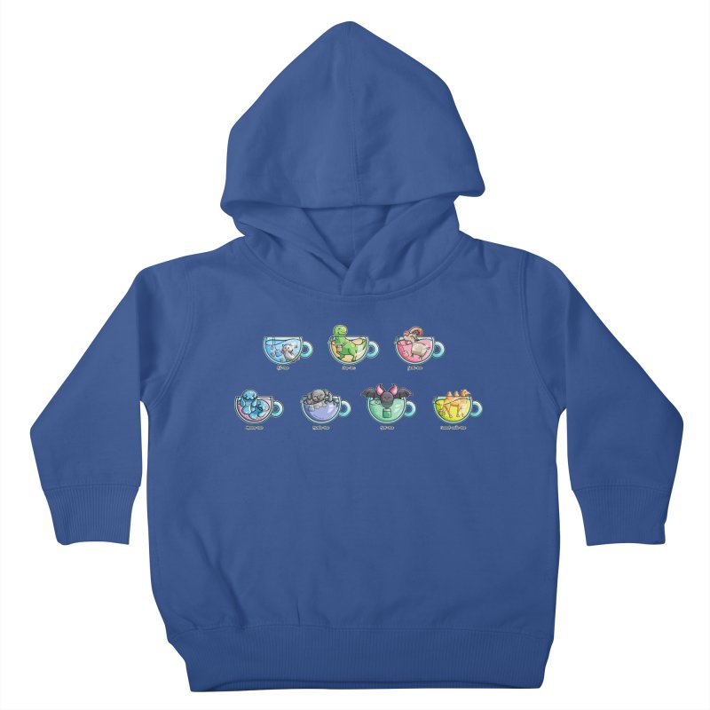 Kawaii Cute Tea Puns Collection Kids Toddler Pullover Hoody by Flaming Imp's Artist Shop