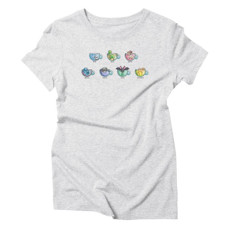 Kawaii Cute Tea Puns Collection Women's Triblend T-Shirt by Flaming Imp's Artist Shop