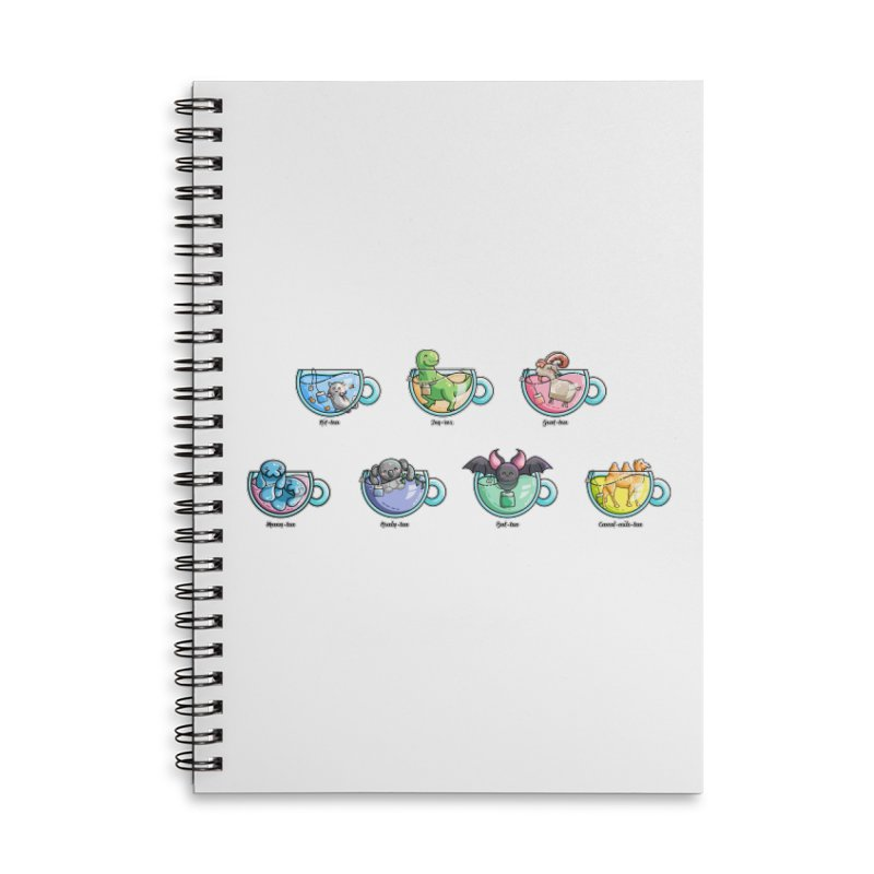 Kawaii Cute Tea Puns Collection Accessories Lined Spiral Notebook by Flaming Imp's Artist Shop