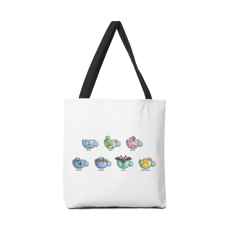 Kawaii Cute Tea Puns Collection Accessories Tote Bag Bag by Flaming Imp's Artist Shop