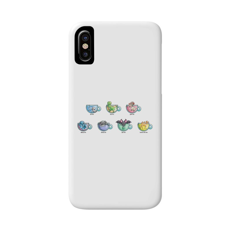 Kawaii Cute Tea Puns Collection Accessories Phone Case by Flaming Imp's Artist Shop