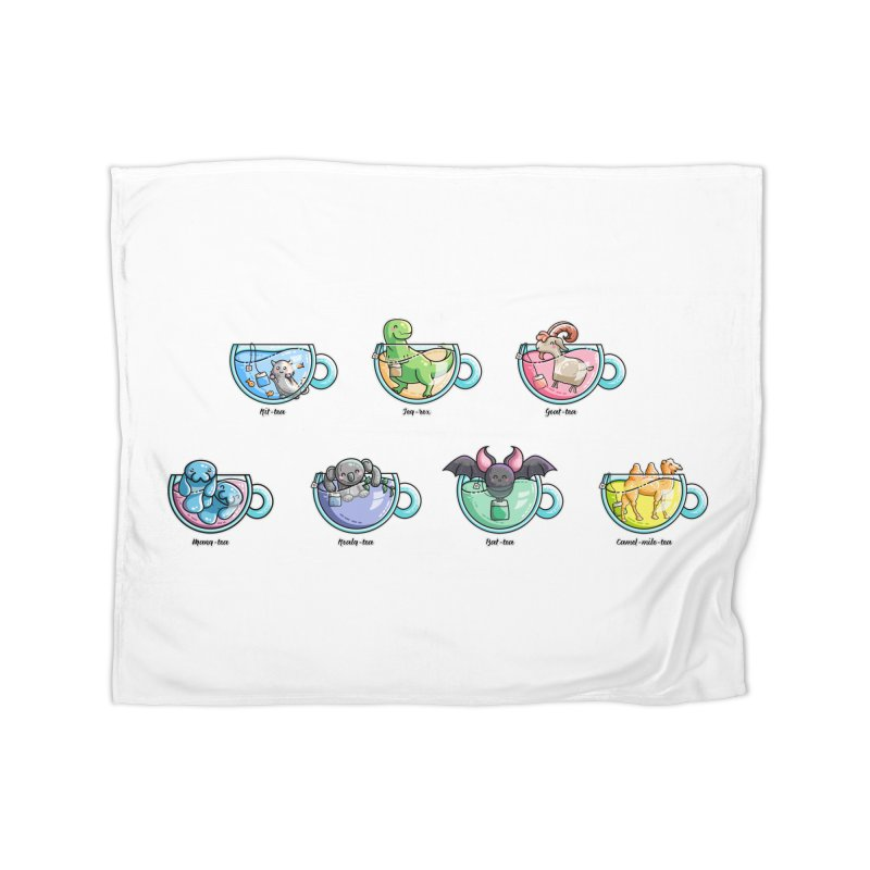 Kawaii Cute Tea Puns Collection Home Fleece Blanket Blanket by Flaming Imp's Artist Shop