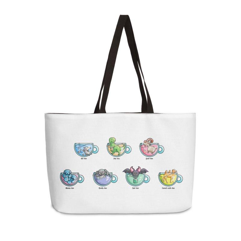 Kawaii Cute Tea Puns Collection Accessories Weekender Bag Bag by Flaming Imp's Artist Shop
