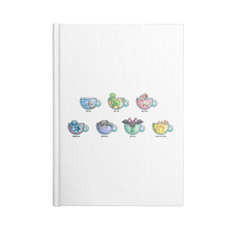 Kawaii Cute Tea Puns Collection Accessories Blank Journal Notebook by Flaming Imp's Artist Shop